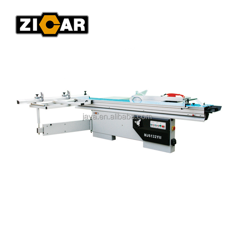ZICAR MJ6132YII High Precision Panel Furniture Sawing Machine/Woodworking Sliding Table Saw with Manual Tilting Saw Blade