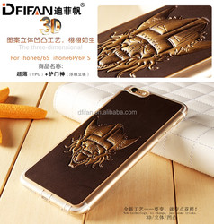 3d Embossed case for iphone 6 cartoon sublimation tpu case for iphone 6s anti scratch mobile case for iphone 6