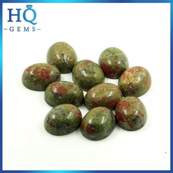 Unakite stone nature stone cabochon oval shape for jewelry setting