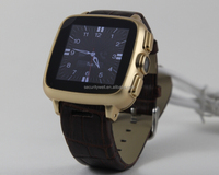 Genuine Leather band 3G Android Smart Watch Phone with 5MP camera