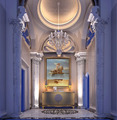 Romantic Luxurious European 3D Interior Rendering Design For Lobby, Design Service with Furnishing
