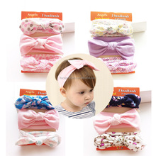 Boutique Christmas Gift <strong>Headband</strong> Sets Girl Princess Birthday Party Baby Pure Cotton Bunny Ear Hairbands