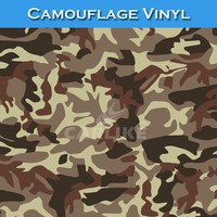 CARLIKE Flexible 1.52x30M Camouflage Auto Body Color Paper