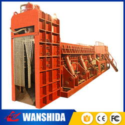 Factory hydraulic automatic waste vehicle shell cut baler for metal recycling plant