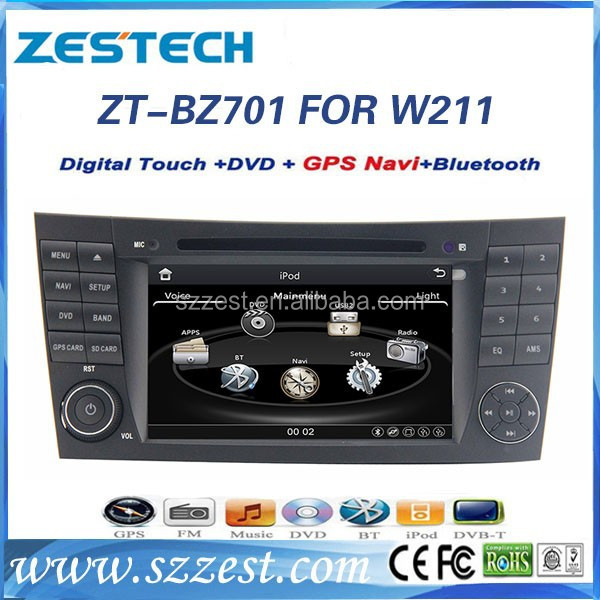 ZESTECH OEM 7 inch 2 din car gps navigation for Mercedes BENZ W211 car dvd with GPS CANBUS