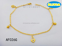 Olivia Jewelry Factory Wholesales Jewelry Stainless Steel Charms Anklet Body Jewerly