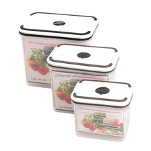 Rectangular 3pcs set airtight waterproof PP food container with clip lock BPA Free Microwavable Dishwasher safe