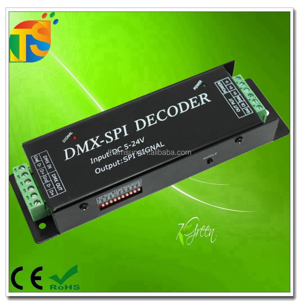 DMX digital default points is 512 DMX to SPI decoder