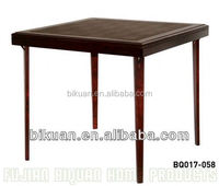 BQ square folding oak wood dining table chairs