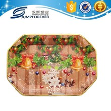 high quality and beautiful Custom plastic christmas cake decoration, vegetable plastic tray/coffee hot plate