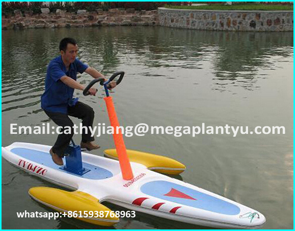 2016 Ho t sale2 passenger FRP Paddle water bike/ pedal bicycle with cheap price