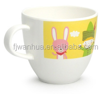 Plastic 100%melamine baby drinking cup