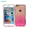 Electroplating Glitter Gradient Color Transparent TPU Case For iPhone 6 With Dust Plug