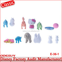 Disney Universal NBCU FAMA BSCI GSV Carrefour Factory Audit Manufacturer Wholesale Cheap Custom Various Animal Shaped Eraser