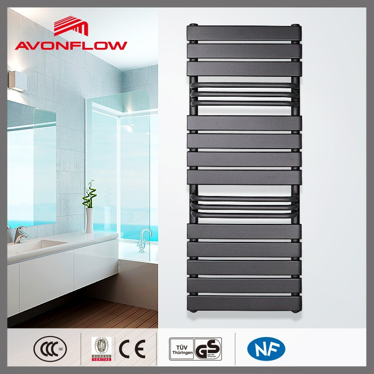 AVONFLOW New Design Towel Radiator Black Bath Towel Rack With Hot Water