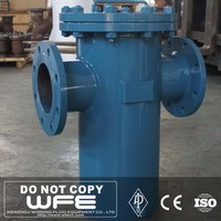 WFE Carbon/Stainless Steel Flanged End Basket Strainer