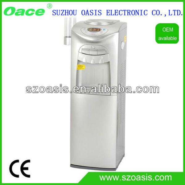 R134A Compressor cooling stand installation hot and cold water dispenser with fridge cooler