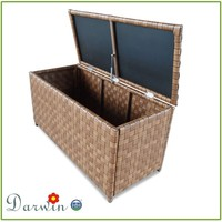 Rattan cushion boxes outdoor furniture for garden