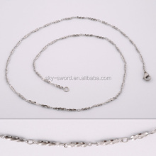 stainless steel new design fashion long chain necklaces(VN20048)