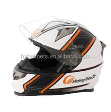 White Color Factory Price Full Face motorcycle Helmets With Anti-fog PC Visor