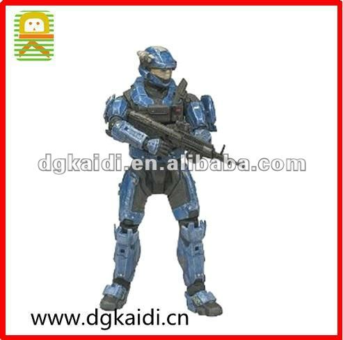 Halo Reach Series 3 Action Figure - Spartan Military Police Custom Male Blue