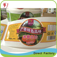 OEM Private Custom Safety Self Adhesive Food Grade Stickers,Printing Waterproof Adhesive Food Safety Sticker
