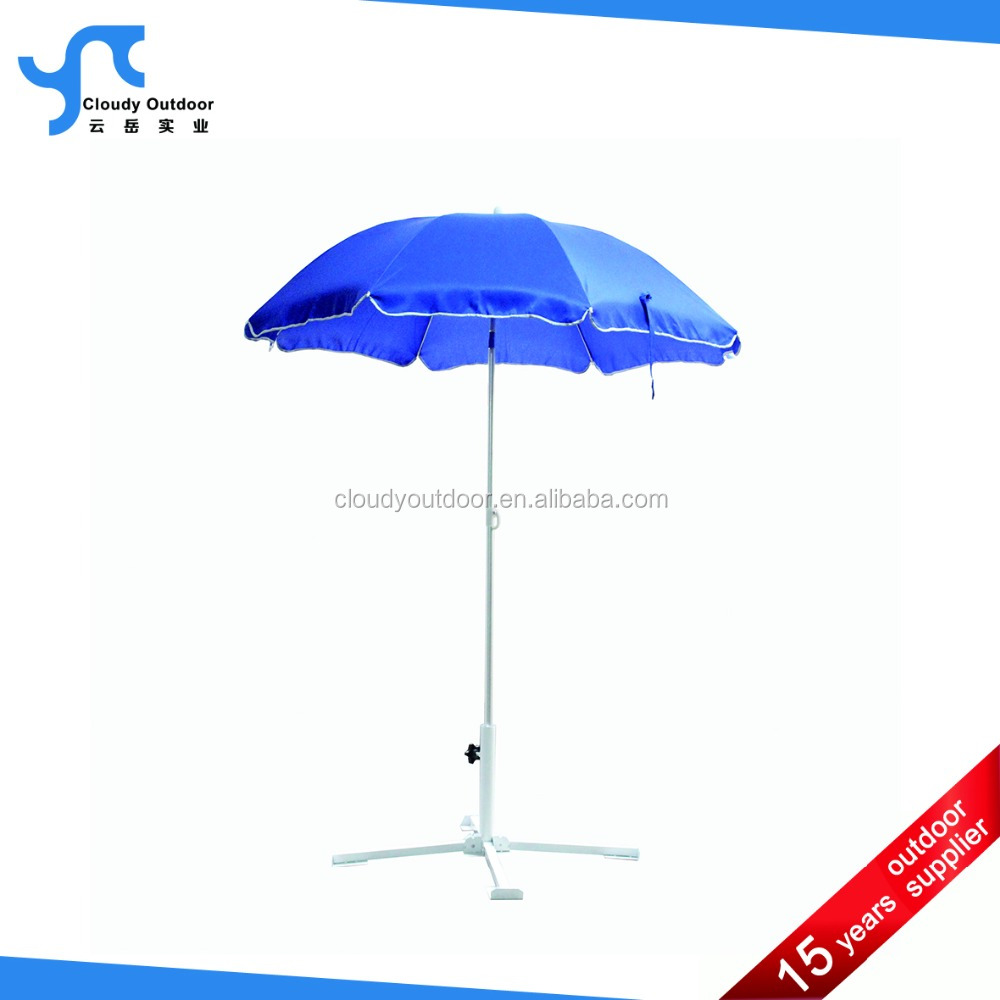 Sun Umbrella Promotional Sunshade Beach Umbrella With Tilt Folding Beach Umbrella