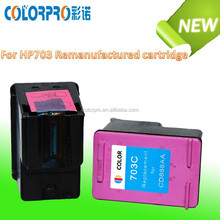 High quality zhuhai inkjet cartridge compatible for hp Remanufactured ink cartridge 703 for hp Deskjet D730 F735 K109a K109g