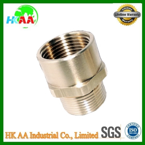 China supplier high precision stainless steel / brass metal adaptors