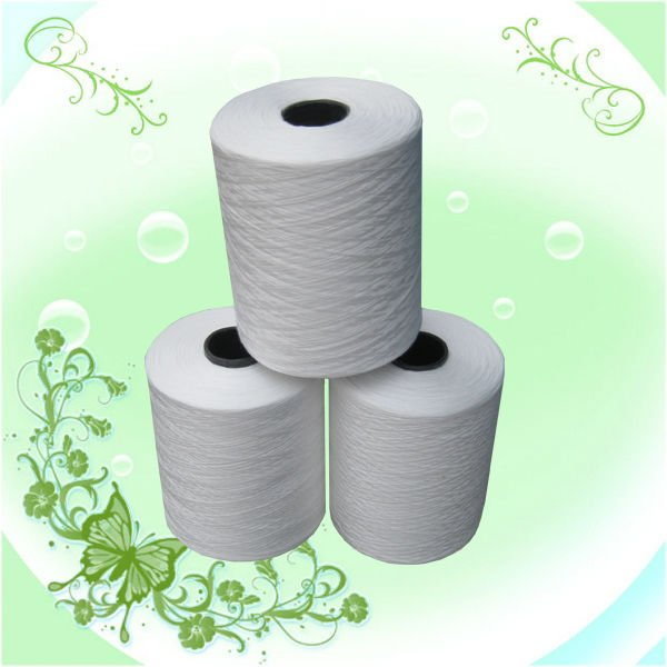 raw white polyester sewing thread for shoes