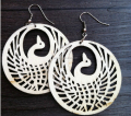 Pavo Shape- Laser cut wood earrings