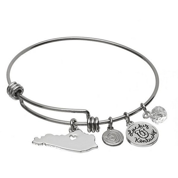 Yiwu Aceon Stainless Steel Adjustable Wire Bangle state Kentucky charm bracelet