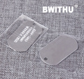 2016 BWITHU Fashion Metal blank Dog Tag