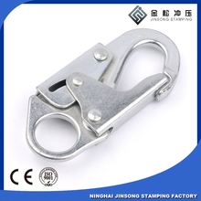Custom design and manufacture metal accessories snap hook of your company own brand logo