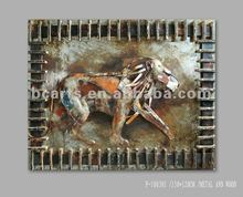 Modern Abstract Metal Embossing Animal Lion painting