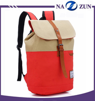 2016 hot selling durable Multi-function canvas backpack bag, fashion students canvas school bag