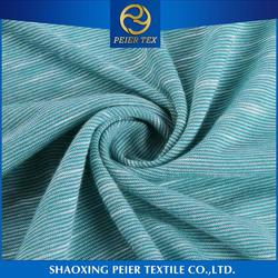 Best selling polyester cotton elastane rib fabric spandex corduroy fabric navy blue and white stripe fabric