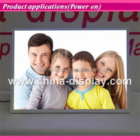 Magnetic acrylic frame desktop led lighted 3d wall panel