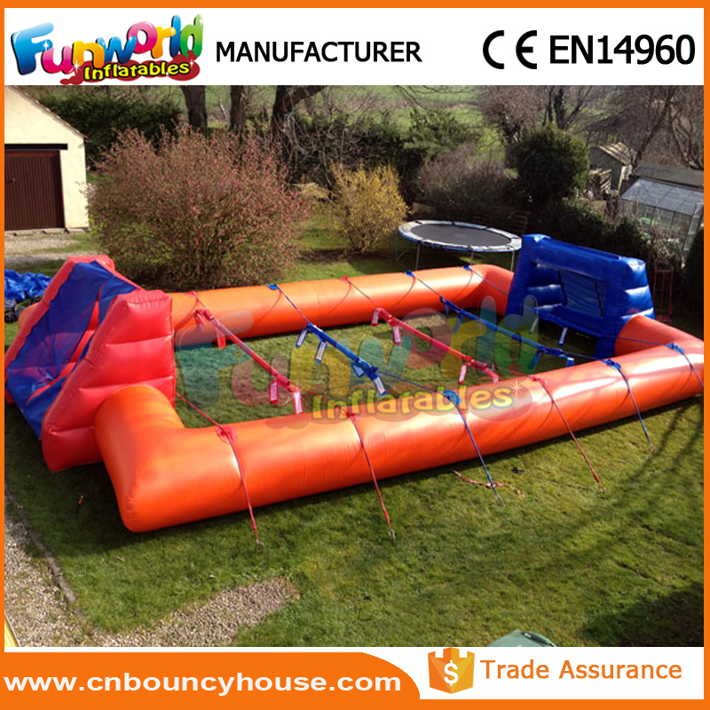 Commercial inflatable sports games human table football