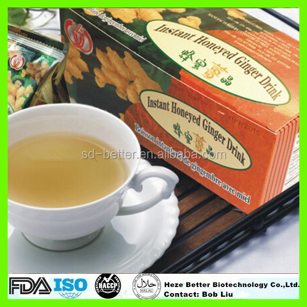 Hot Sale Instant Honey Ginger Tea Granules, Herbal Ginger Tea with Honey, Honeyed Ginger Drink