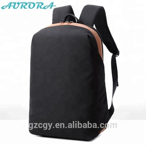 2e59aa3879f2 AURORA guangzhou Custom black fashion backpack city Daypack backpack bag