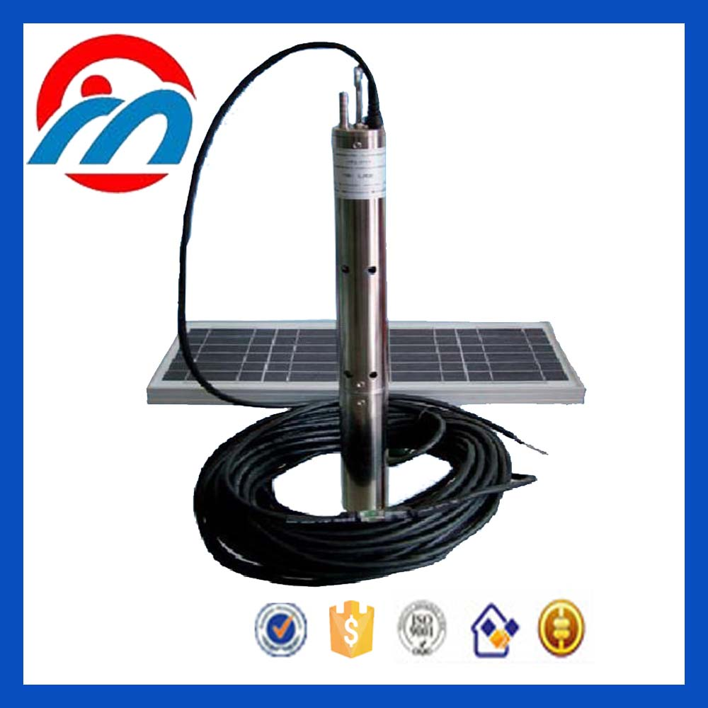 Solar submersible water pump irrigation system with DC/AC triphase controller