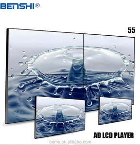 split lcd screen with Ultra HD 4k TV 50 Inch 3840*2160 Quad Core Android Smart ad TV wall hanging ad player