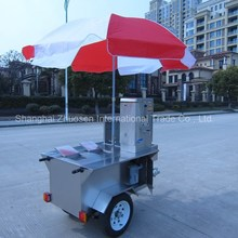 European Style Gymnasium Mobile Market Field Kitchen Food Display Stall Trailer ZS-HT120 A