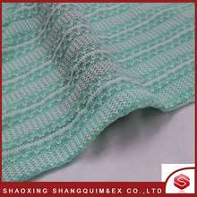 High quality luxury yarn dyed polyester coarser knitted fabric