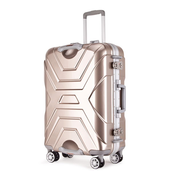 Cool design trolley luggage bag/Newly designed luggage/carry-on aluminum frame suitcase