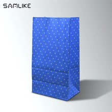High quality new design small white kraft paper gift bag without handle