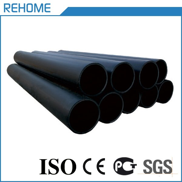 2017 hot sale black plastic water supply hdpe pipe