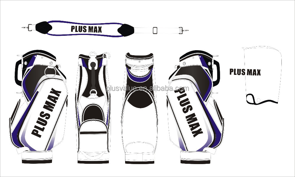 wholesale high quality custom handmade PU leather custom made golf bags