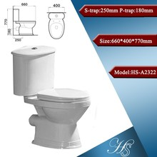 HS-7022 Water saving cheap two piece hospital toilet